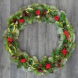 Traditional Winter and Christmas Wreath royalty free stock photos