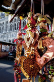 Traditional winter decoration by Christmas Market Stock Photos