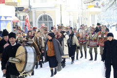 Traditional winter festival Stock Images