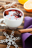 Traditional winter hot drink of wine, mulled wine Stock Images