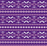 Traditional winter knitted vector pattern with snowflakes. Stock Photos