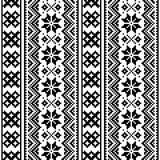 Lapland seamless vector pattern, Scandianvian folk art design, Sami cross stitch monochrome background. Traditional winter pattern from Norway, Sweden, Finland Royalty Free Stock Photos