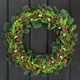 Traditional Winter Wreath Royalty Free Stock Images
