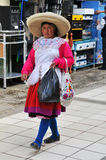Traditional woman from the Northern Andes of Peru Royalty Free Stock Image