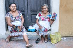 Traditional women in Valladolid Stock Photos