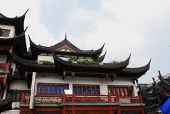 Traditional wood architecture of China. Traditional and beautiful the old architecture of China Stock Photography