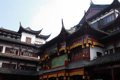 Traditional wood architecture of China. Traditional and beautiful the old architecture of China Stock Images