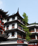 Traditional wood architecture of China. Traditional and beautiful the old architecture of China Royalty Free Stock Photo