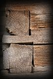 Traditional wood beams detail Royalty Free Stock Image