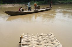 Traditional Wood Boat transportation Royalty Free Stock Images