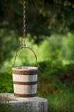 Traditional wood bucket. Traditional well with wood bucket Stock Image