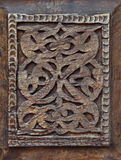 Traditional wood carving, Uzbekistan Royalty Free Stock Photos