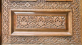 Traditional wood carving, Uzbekistan Royalty Free Stock Photo