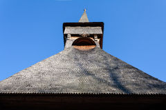 Traditional wood church tower Stock Photo