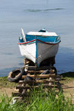 Traditional wood fishing boat Stock Photography