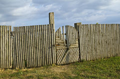 Traditional wood gate and fence Royalty Free Stock Image