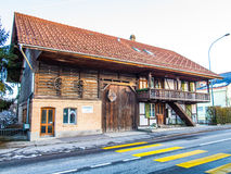 Traditional wood house Royalty Free Stock Image