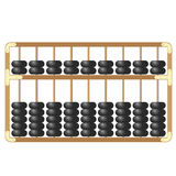 Traditional wooden abacus  on white background vector Royalty Free Stock Image
