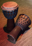 Traditional wooden african djembe drumon stage Royalty Free Stock Photo