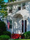 Traditional Wooden American House. Entrance of a Traditional Wooden American House royalty free stock photos
