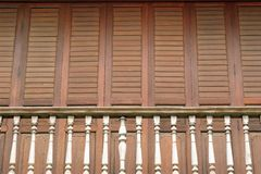 The traditional wooden balcony. Royalty Free Stock Image