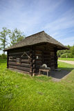 Traditional wooden blacksmith house. On a countryside Royalty Free Stock Photo