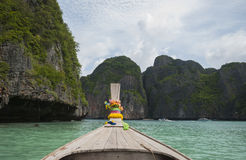 Traditional wooden boat longtail. Thailand Royalty Free Stock Photography