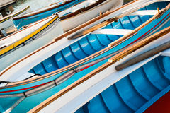 Traditional wooden boats stock photo