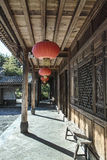 Traditional wooden building. Traditional Chinese building in Yunnan Stock Image