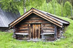 Traditional wooden cabin in Sweden Royalty Free Stock Photography