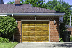 Traditional wooden car garage Royalty Free Stock Photo