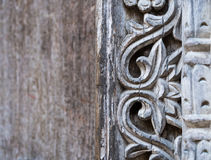 Traditional wooden carved door in Stone Town, Zanzibar Stock Photography