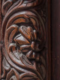 Traditional wooden carved door in Stone Town, Zanzibar Royalty Free Stock Images