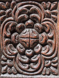 Traditional wooden carved door in Stone Town, Zanzibar Royalty Free Stock Image