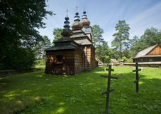 Traditional wooden church. Vinatge looking church on a countryside area Stock Photography