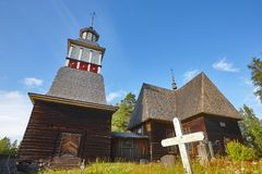 Traditional wooden church in Finland. Petajavesi. Finnish cultur. Al heritage. Travel Royalty Free Stock Image