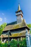 Traditional wooden church in Maramures area, Romania Royalty Free Stock Photos