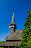 Traditional wooden church in Maramures area, Romania Stock Photo