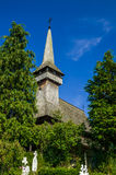 Traditional wooden church in Maramures area, Romania Royalty Free Stock Photography