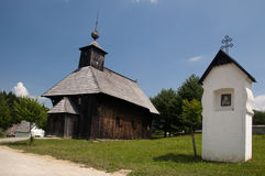 Traditional wooden church, Slovakia Stock Images