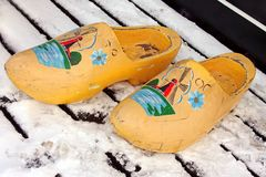 Traditional wooden clogs from the Netherlands Royalty Free Stock Images