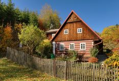 Traditional Wooden Cottage Royalty Free Stock Photo