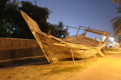 Traditional Wooden Dhow in Dubai Stock Image