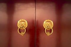 Traditional wooden door Stock Images
