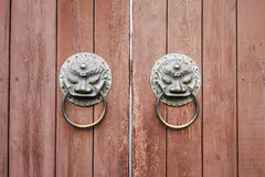 Traditional wooden door closeup Stock Photography