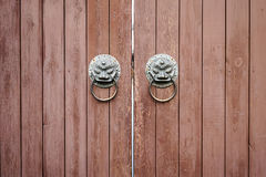 Traditional wooden door Royalty Free Stock Images