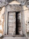 Traditional wooden doors on Zanzibar Royalty Free Stock Images