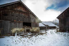 Traditional wooden farm in Austrian alps Royalty Free Stock Photos