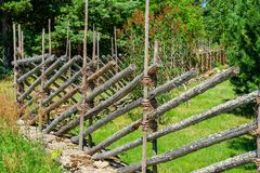 Traditional wooden fence. Estonia Royalty Free Stock Photography