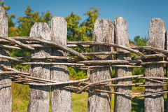 Traditional wooden fence Royalty Free Stock Photography